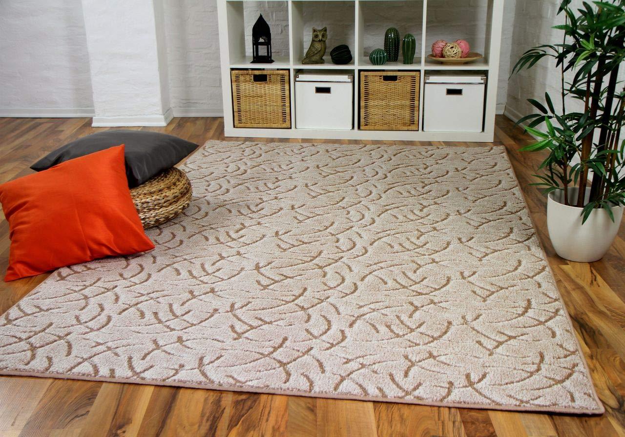 Snapstyle Konturenschnitt Hochflor Langflor Teppich Frieda Beige in 24 Größen