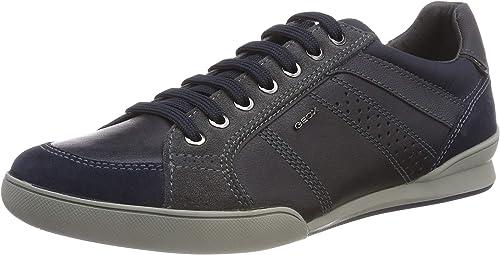 Geox U Smart E, Sneakers Basses Homme, Marron