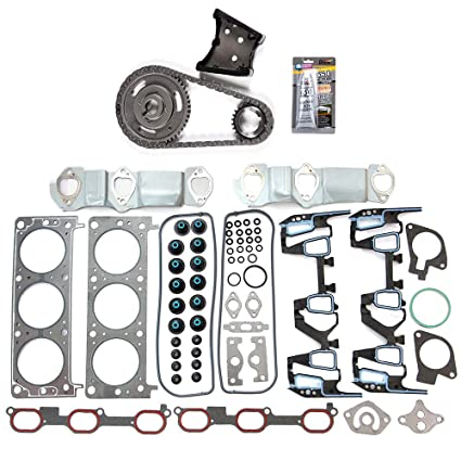 ocpty engine timing part ts13221 timing chain kit head gasket set fits for  2000 2001 chevrolet