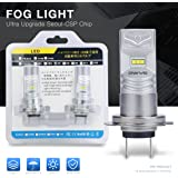 DWVO H7 DRL Fog light Led Bulbs,Ultra Upgrade SEOUL CSP Chipset 800LM 6000K 12V-24V Replacement Headlight Bulb Xenon White (Pack of 2)