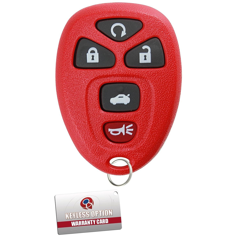 KeylessOption Keyless Entry Remote Control Car Key Fob Replacement for 15912860