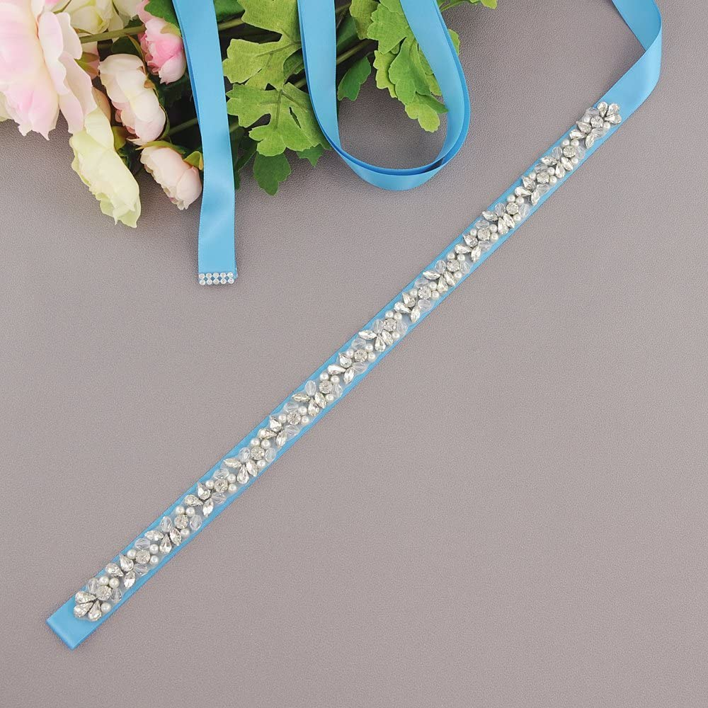 ULAPAN Wedding Sash Rhinestones Bridal Belt Bridal Sash,Wedding Belt With Crystals,S387