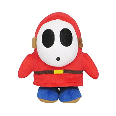"Sanei Super Mario All Star Collection AC25 Shy Guy 6.5"" Plush: Toys & Games"