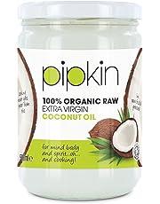 pipkin Aceite de Coco 100% Orgánico, Natural, Virgen Extra Puro. Aceite de coco Multiusos, Prensado en Frío, no GM, Hidratante de Cabello/Piel / Cuerpo. (500ml)