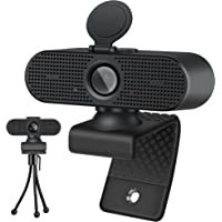 Foscomax Webcam, 1080P HD Webcam with Noise Reduction Microphone & Tripod & Privacy Cover, USB Webcam for Computer…