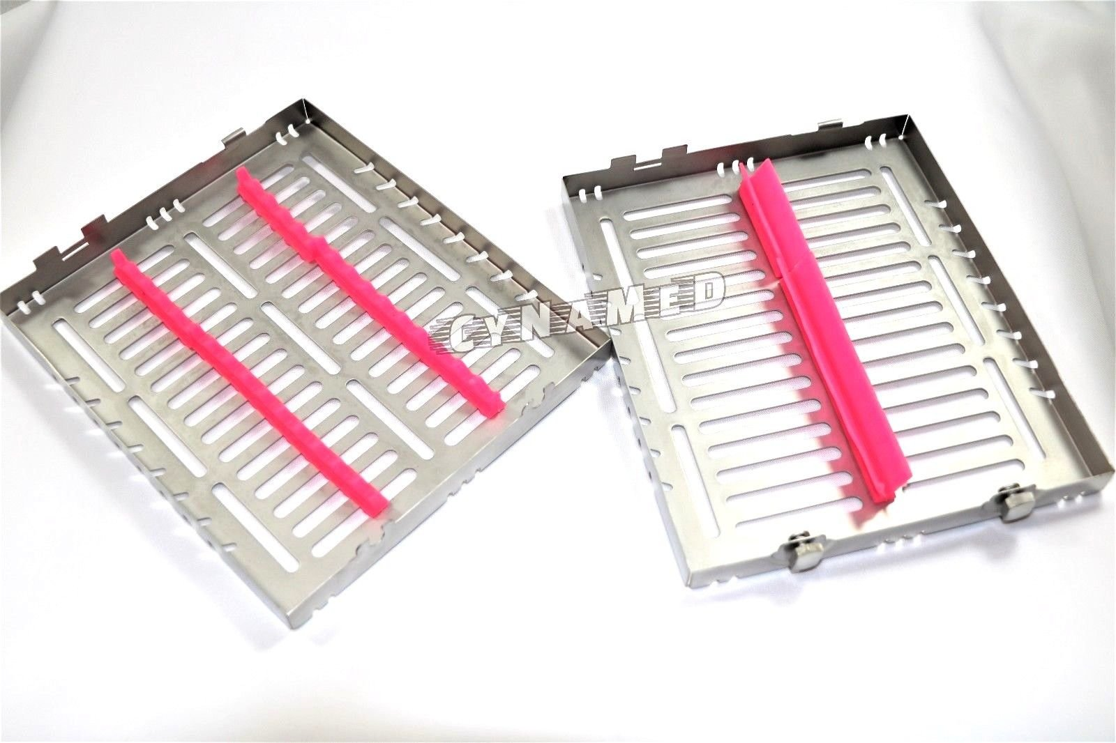 5 German Dental Autoclave Sterilization Cassette Tray for 15 Instruments 8.25X7.25X1.25'' Pink CYNAMED by CYNAMED (Image #6)
