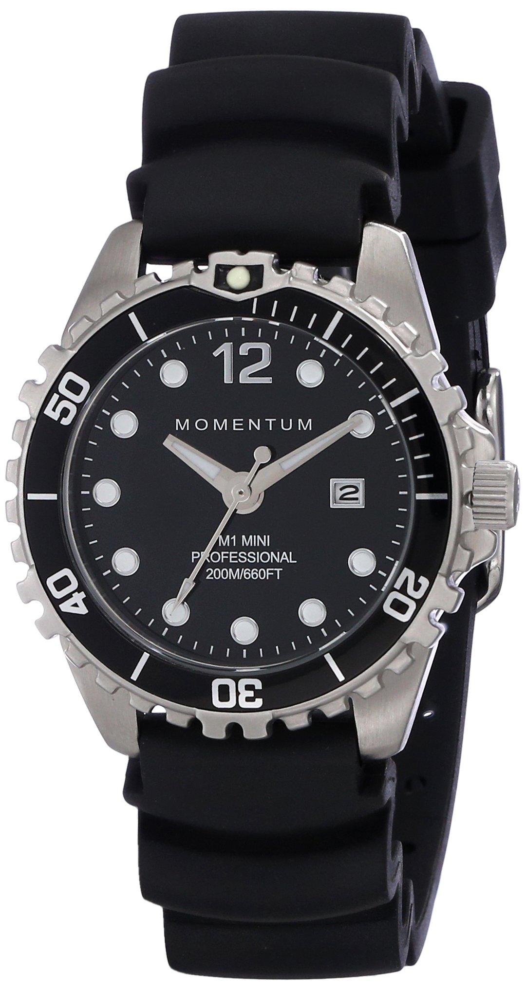 Momentum Women's 1M-DV07BB1B M1 Mini Analog Display Japanese Quartz Black Watch