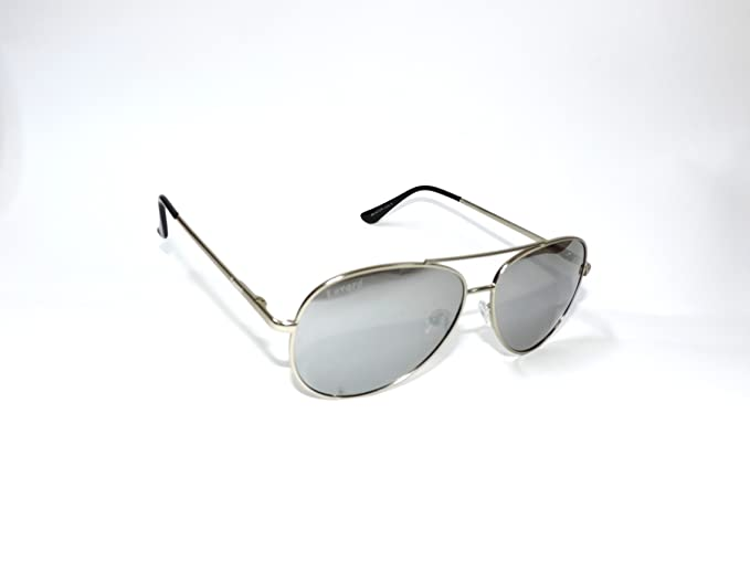 GAFAS DE SOL AVIATOR Montura metal plata y lentes polarizadas espejo plata modelo 102-3