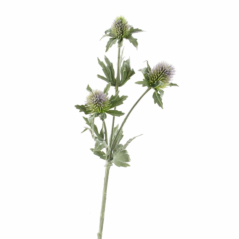 artplants Lot 3 x Eryngium Artificiel SVEA avec 3 Fleurs, Bleu, 40 cm - 3 Pcs Fleur Artificielle/Fleur Plastique Dé co 40 cm - 3 Pcs Fleur Artificielle/Fleur Plastique Déco