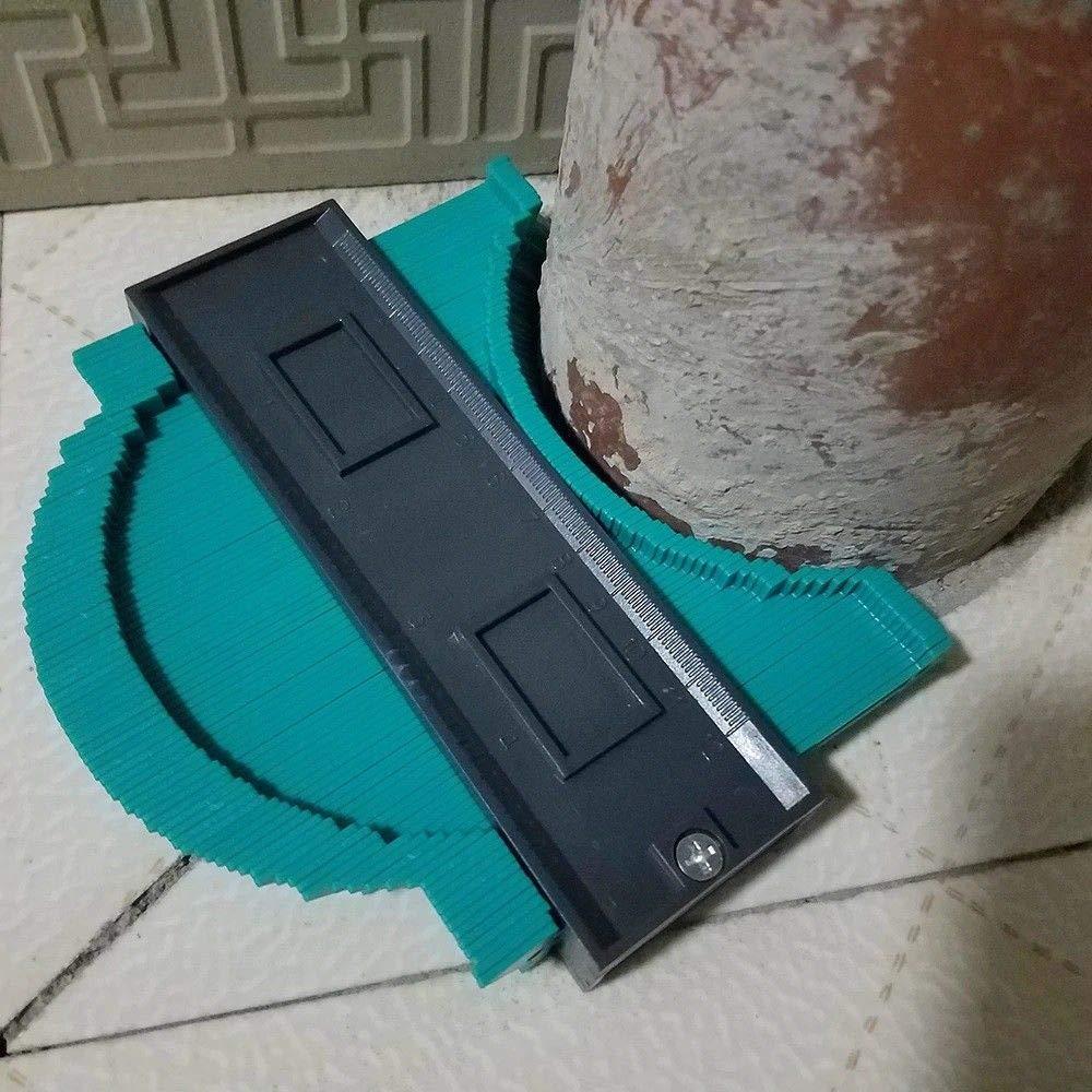 Medidor de Perfil 5 Pulgadas,EEIEER 120mm Medidor Contornos Multifuncional Contour Gauge Duplicator Irregular de ABS Medidor de Perfil de Contorno Herramientas de marcaje para Edge Shaping