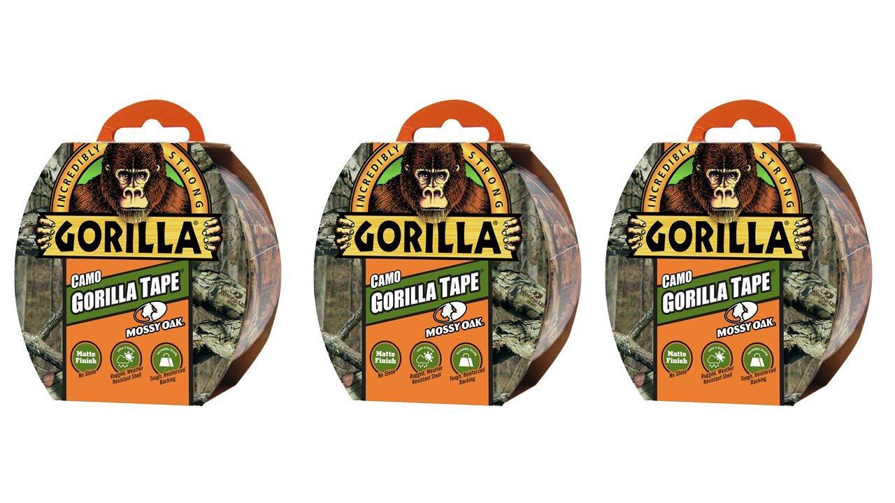 Gorilla Tape, Camo Duct Tape, 1.88'' x 9 yd, Mossy Oak, (Pack of 3)
