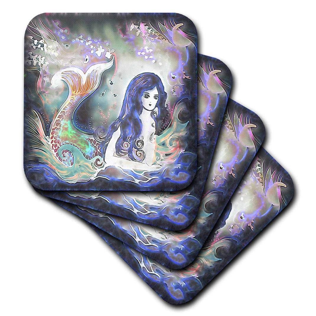 3dRose Luminous Beautiful Mermaid in The Water