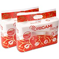 ORIGAMI Luxuria 2 Ply Import Toilet Rolls - 200 Pulls (Pack of 12)