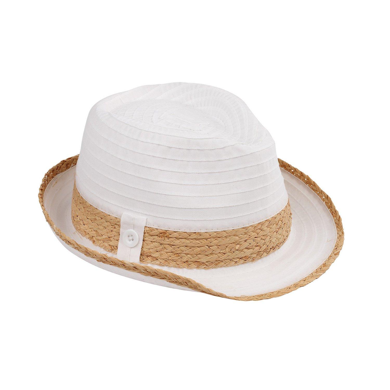 f36e31e101a AccessHeadwear Sun Styles Havana Ladies Packable Trilby Fedora Hat, Beige  at Amazon Women's Clothing store: