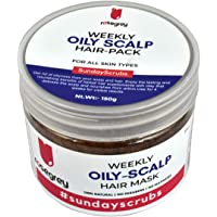 Oily-Scalp Hair Pack for Greasy Oily Hair, Reduces Oiliness of the Scalp, Clay Mask