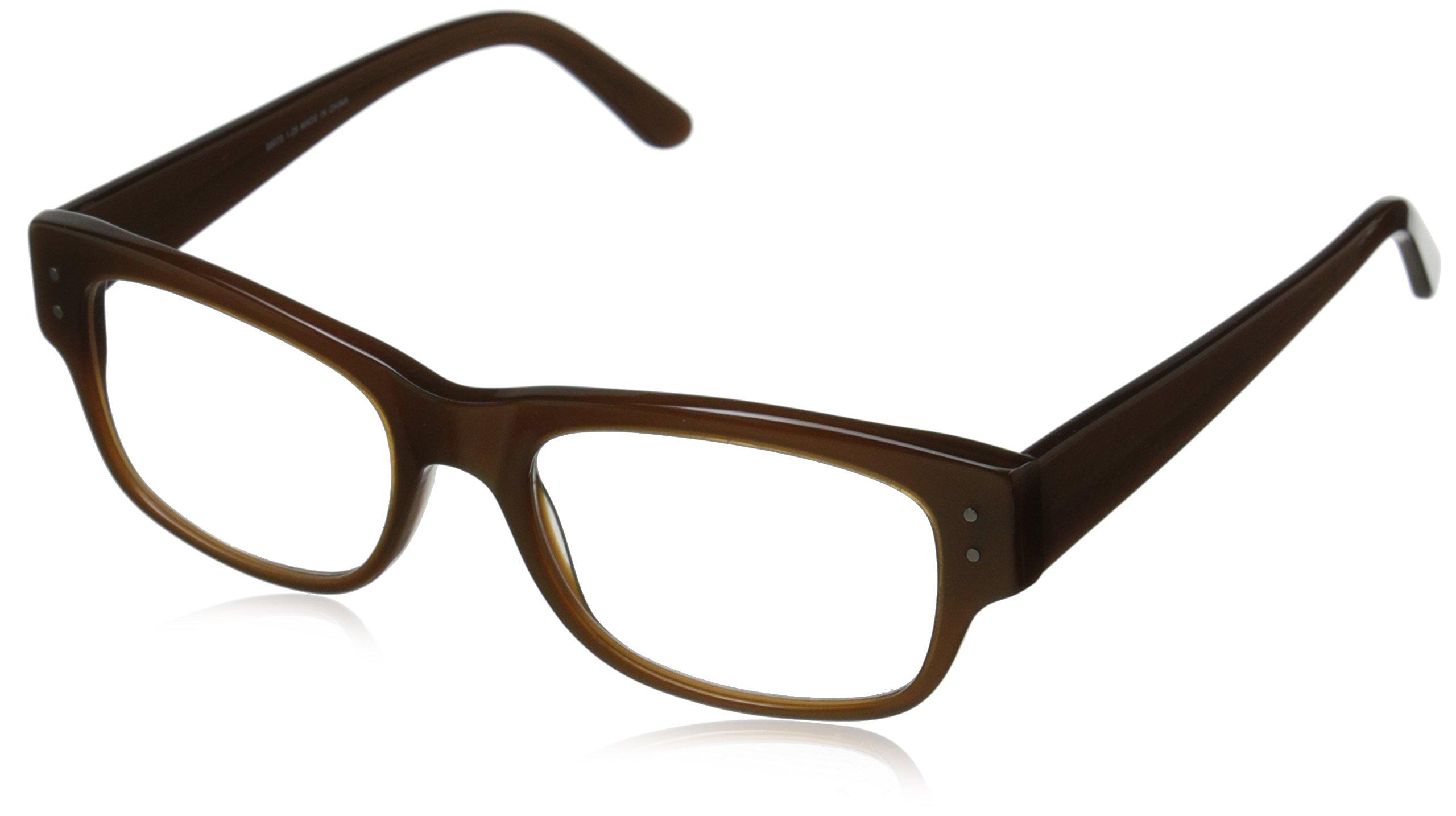 A.J. Morgan Brody 3.00 Rectangular Reading Glasses, Pearl Brown, 51 mm