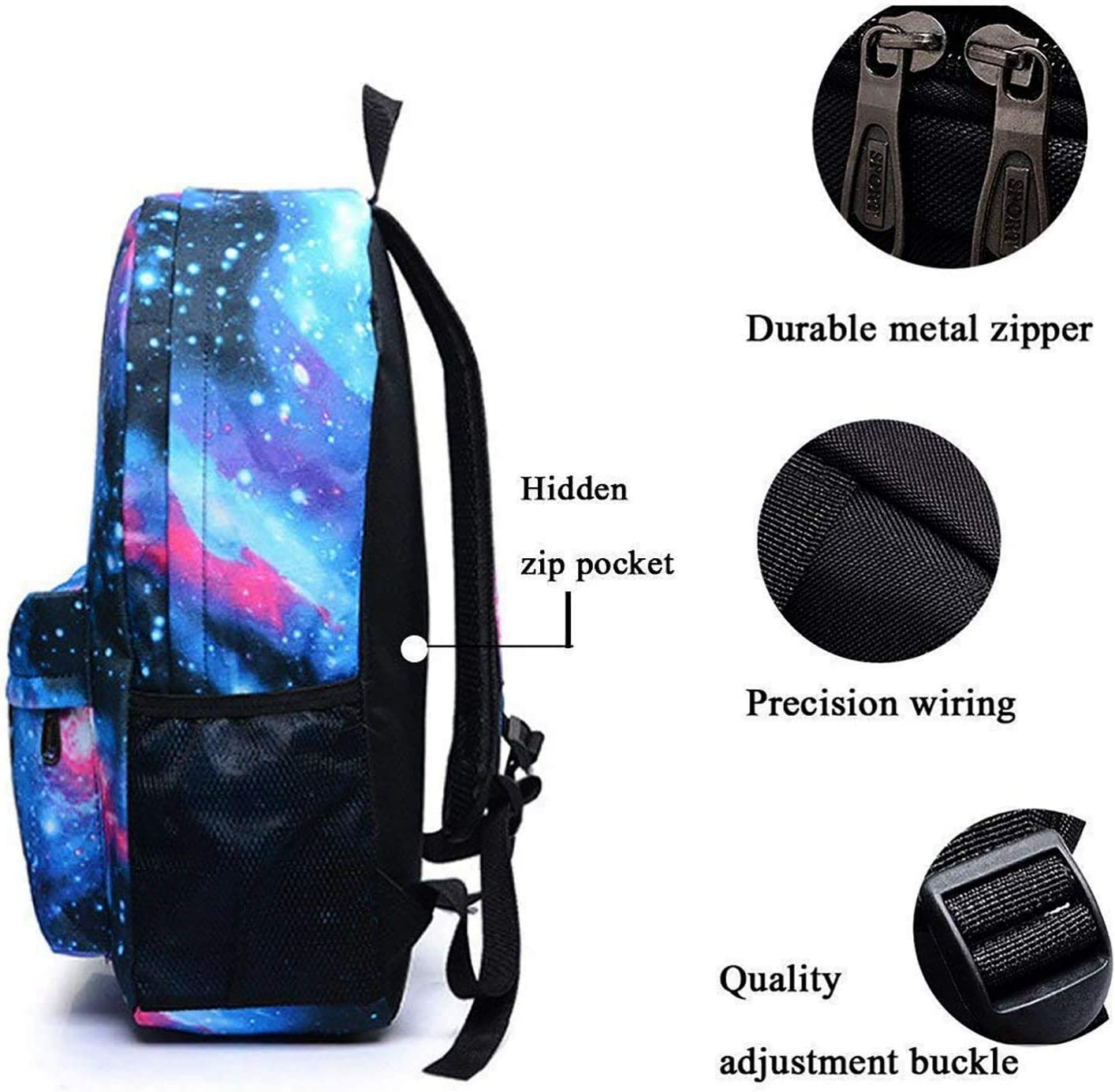 HEIMEN King of Fighters Galaxy School Backpack Bookbag Casual Daypack Travel Laptop Backpack for Girls Teenagers