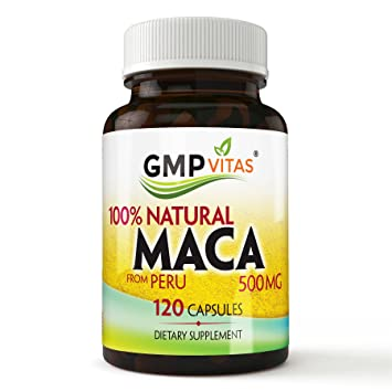 GMP Vitas® Premium Natural Peru organic maca root capsules Increase Libido, Improves Vigor,