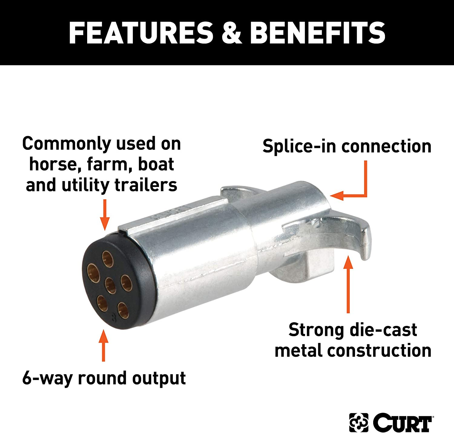 Curt Manufacturing 58081 Trailer Connector