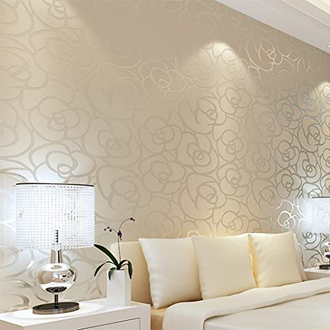 European Romantic Pastoral Nonwoven Wallpaper Bedroom Living Room