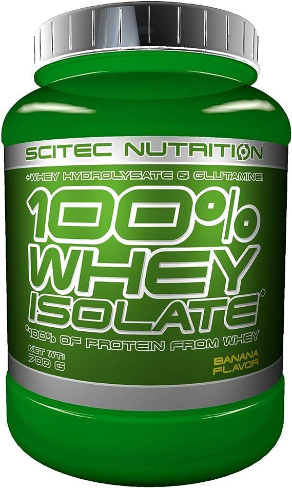 Scitec Nutrition 100% Whey Isolate con L-glutamina adicional, 700 g, Plátano