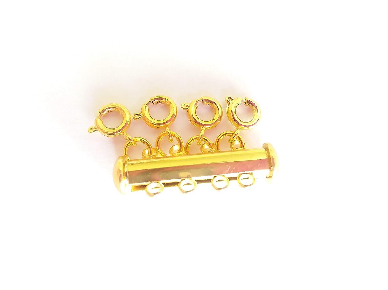 Seashell Crafter レイヤードネックレス スペーサークラスプ 複数のネックレスを分離 マグネットまたはスライドロッククラスプ Attach 4 Necklaces ゴールド LNC Attach 4 Necklaces 金メッキ B07QTDB58H