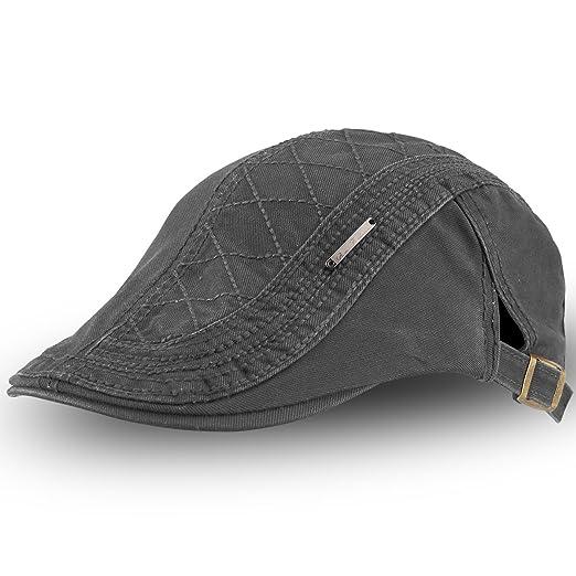 9e125f8dcb9 OMECHY Men s Cotton Flat Newsboy Cap Cabbie Ivy Duckbill Irish Cap Gatsby  Driving Golf Beret Hat