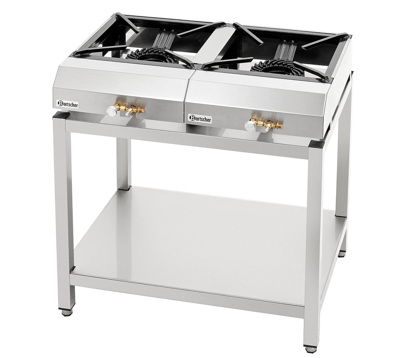 Estufa de mesa con 2 estufas de gas, 1 x 7,25 kW - Bartscher 1058753: Amazon.es: Grandes electrodomésticos
