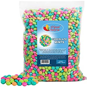 Pastel Candy - Chocolate Mints - After Dinner Mints - Pastel Candy - Chocolate Lentils - 2 LB