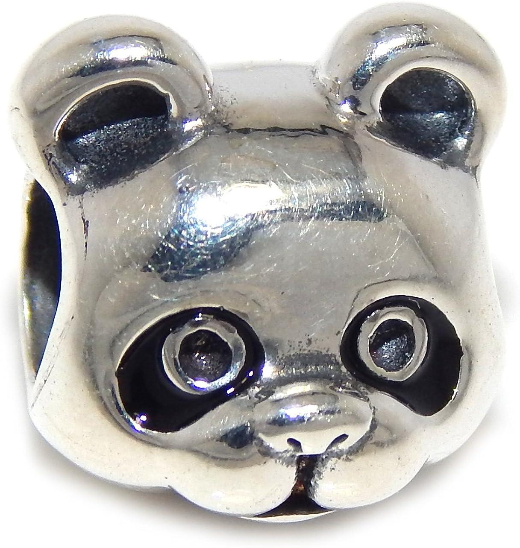 925 Sterling Silver PANDA BEAR European Charm Bead