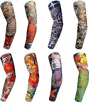 CLAIERY - 8 mangas de tatuaje para hombre, mujer, ciclismo ...