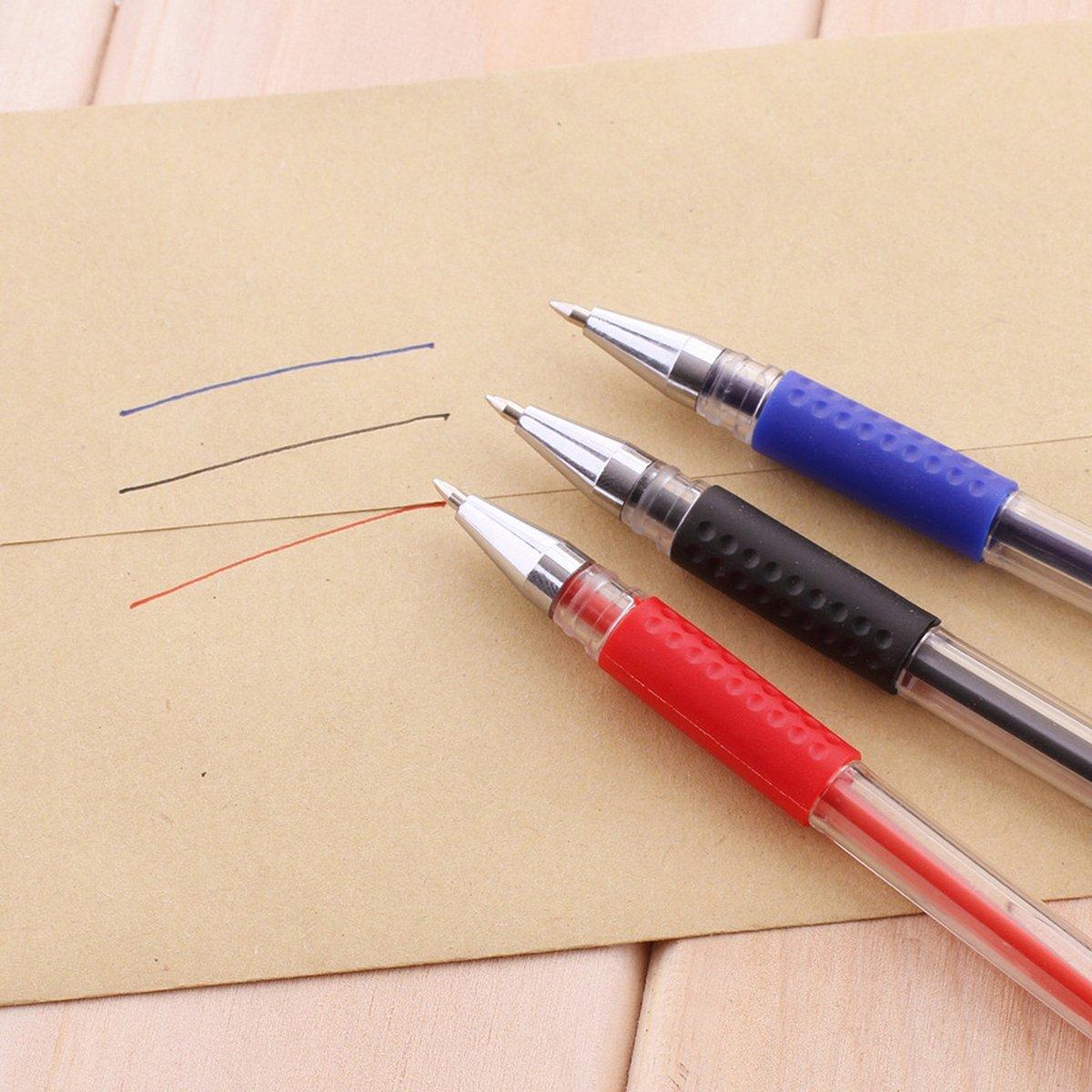 QZBAOSHU Packung mit 12 Stuck Gelschreiber Gelstifte Gel Kugelschreiber Gel Stifte 0.5mm Schwarz Schwarz * 12 St/ück