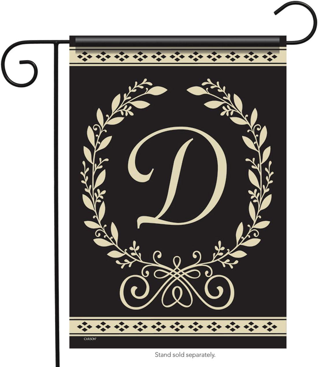 "Classic Monogram D - 12.5""X18"" Garden Flag - Carson Flag Trends"