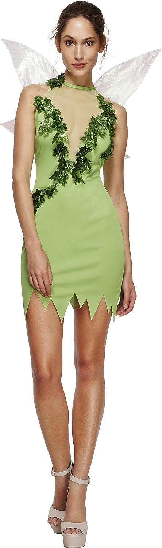 Smiffy'S 43480Xs Disfraz Fever De Hada Mágica Con Vestido Y Alas, Verde, Xs - Eu Tamaño 32-34