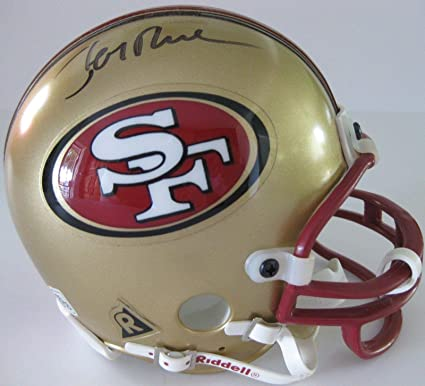 Jerry Rice Signed Mini Helmet - hof coa proof- - Autographed NFL Mini  Helmets 0cc4a0378