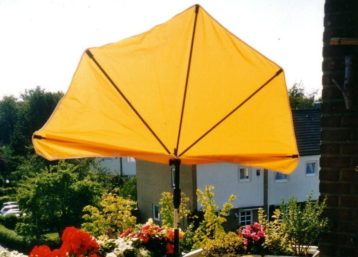 Holly NEU 2019 - Piccolo Balcone con ventole solari – Giallo – Alta Protezione UV con Supporto in Acciaio Inox – Produzione Baden TEMBERG – First