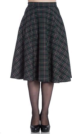 Hell Bunny Peebles Tartan 50s Vintage Retro Flare Swing Skirt Sizes S /& 2XL