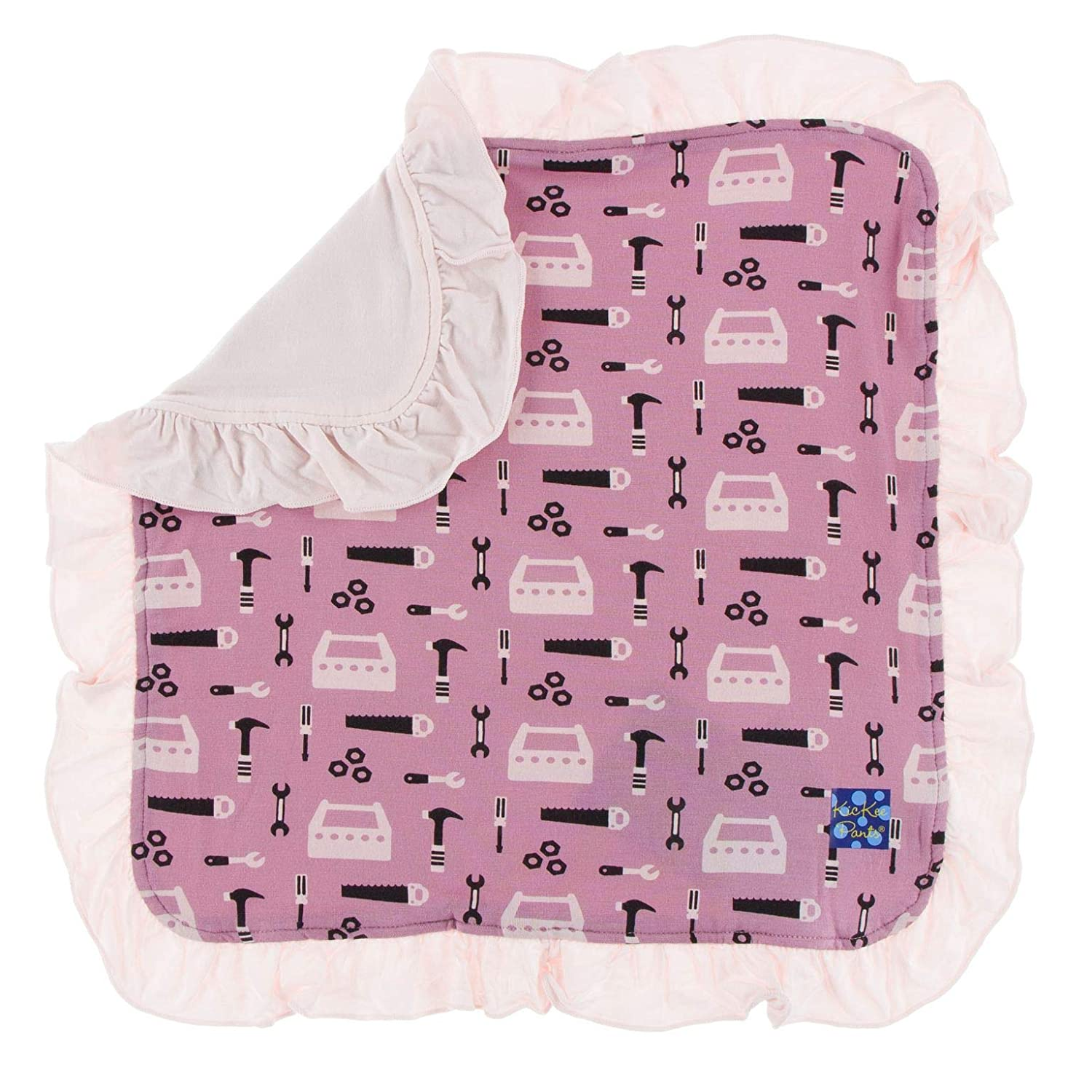 KicKee Pants Print Ruffle Lovey Macaroon Canine First Responders - One Size