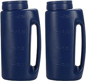 Fasmov Adjustable Handheld Spreader Salt Seed Spreader Adjustable Hole Size Fertilizer Seeds Insect Repellent Ice Melter De Icer, Pack of 2