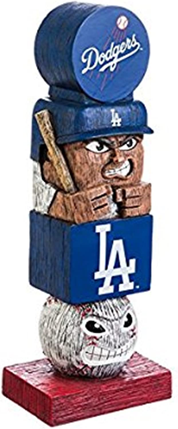 Rico Industries, Inc. Dodgers 16 Inch Tiki Totem Pole Outdoor Resin Home Garden Statue Decoration Baseball