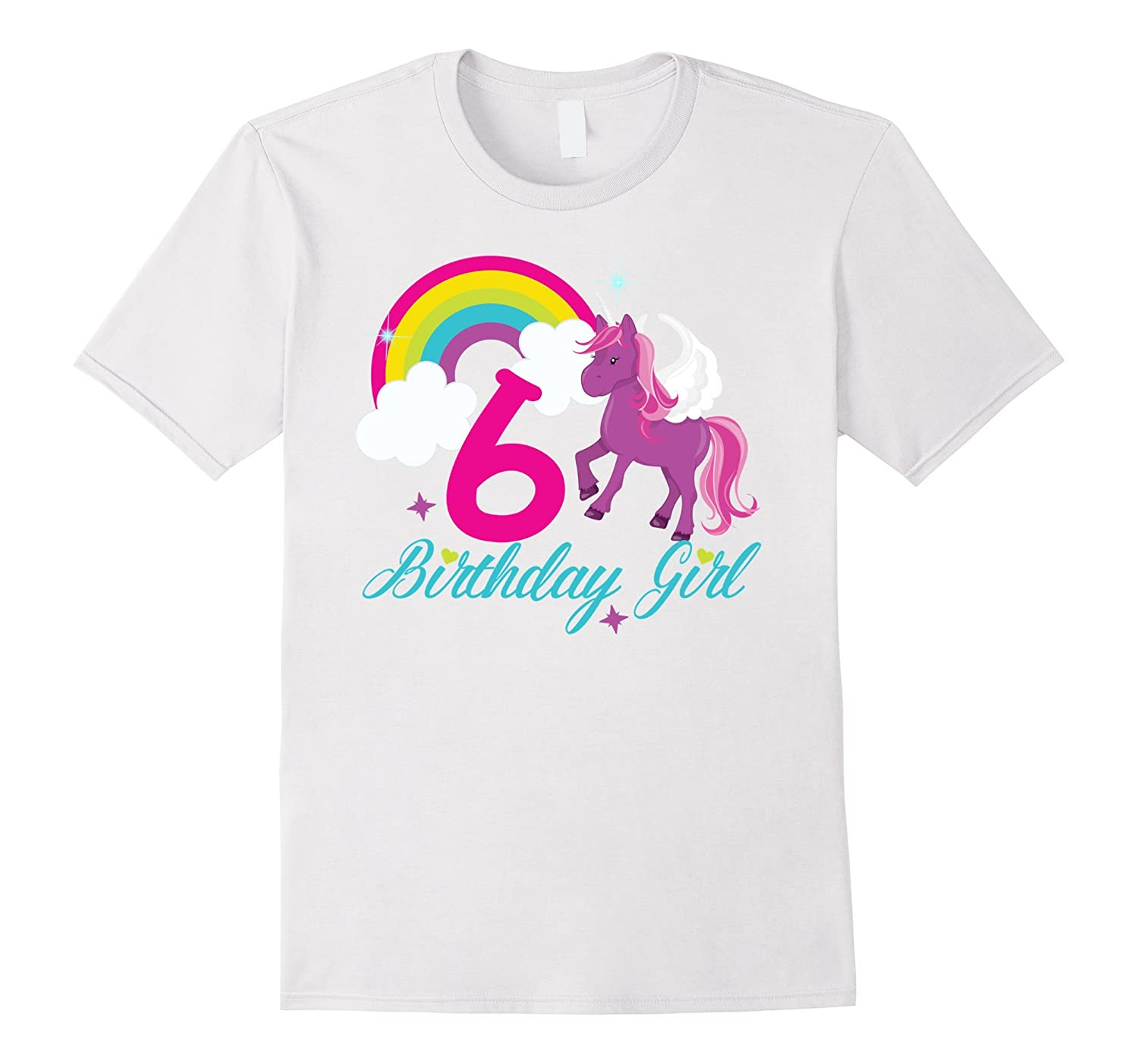 Rainbow Happy Birthday Unicorn Shirt 6th Tee RT