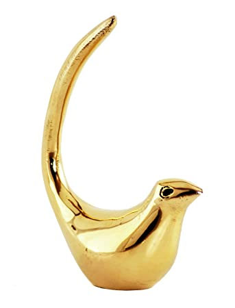 Handcrafted Bird Decor Gold Home Accents Collectible Figurines Decorations For Living Room