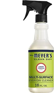 Mrs. Meyer's Clean Day Multi-Surface Everyday Cleaner, Lemon Verbena, 16 fl oz (Pack of 3)