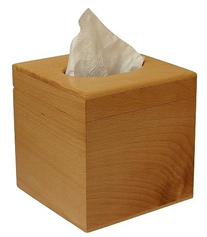 AB artesanía – madera de haya marrón pañuelos de papel dispensador para Kleenex tejidos – hecho
