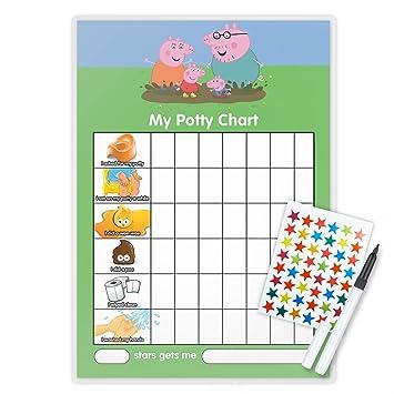 Funky monkey house peppa pig potty toilet training reward chart