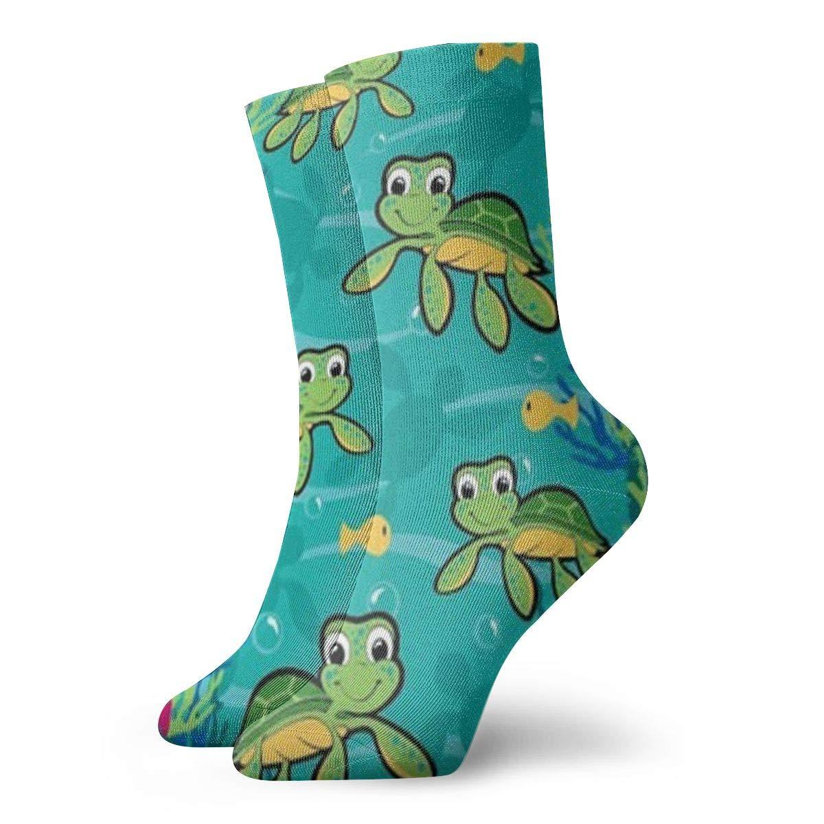 Cartoon Tortoise Unisex Funny Casual Crew Socks Athletic Socks For Boys Girls Kids Teenagers