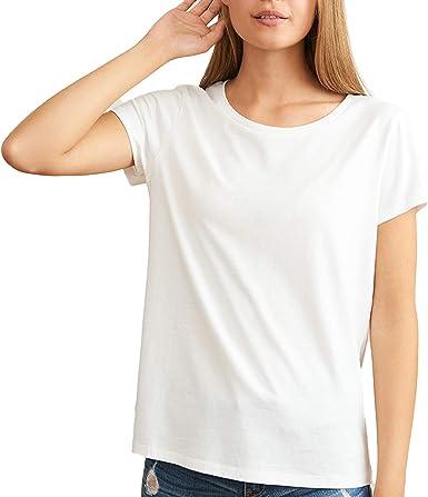 Manches Courtes Lot de 1 S/échage Rapide L/éger DANISH ENDURANCE T-Shirt pour Femme Super Doux Col V ou Rond