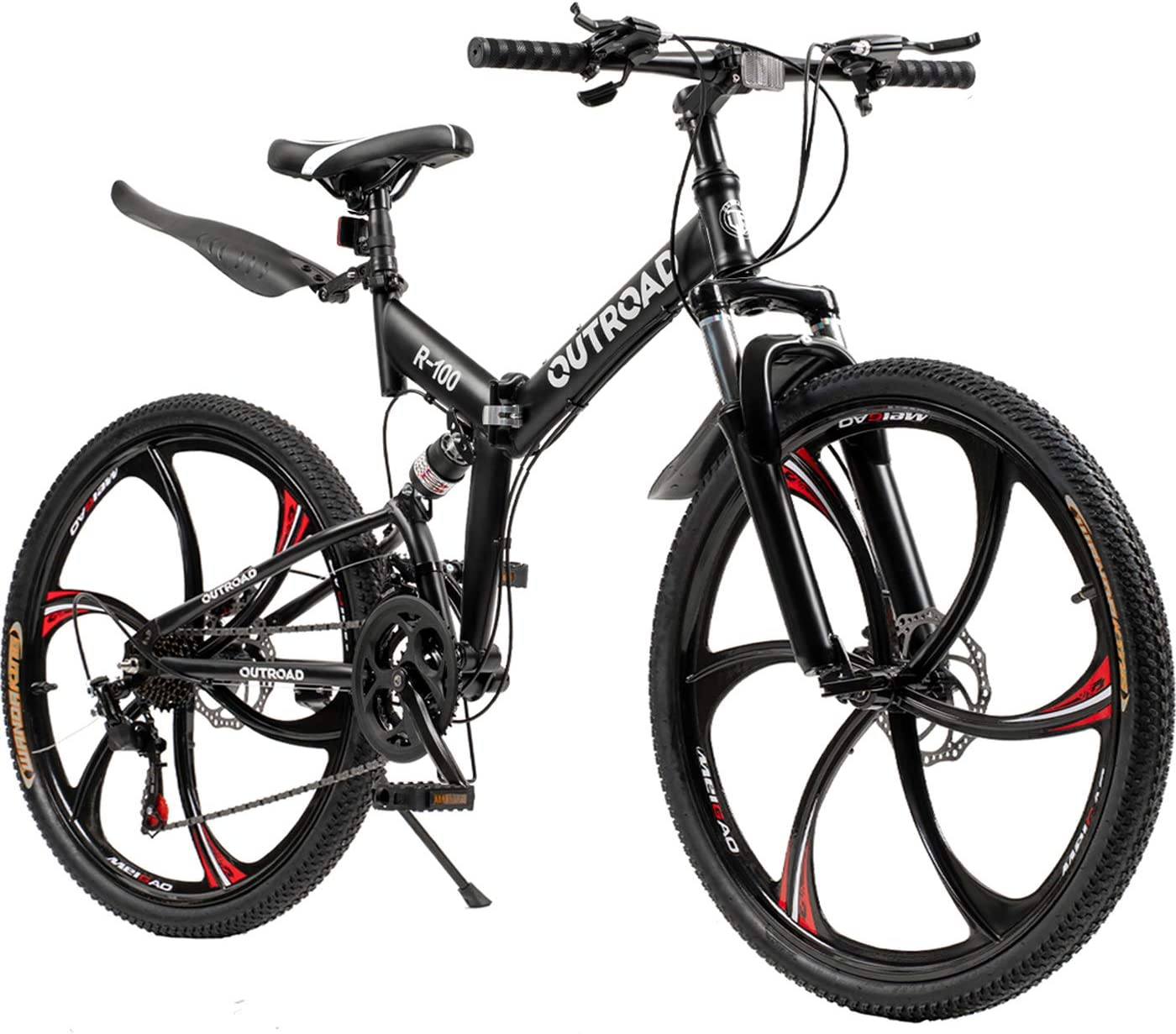 best mountain bike under 500: Outroad 21 Speed 26 in Folding Mountain Bike