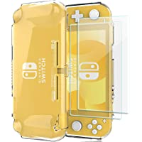 ProCase Nintendo Switch Lite Clear Case with Screen Protectors (2 Pack), Slim Soft Shockproof TPU Cover Anti-Scratch…