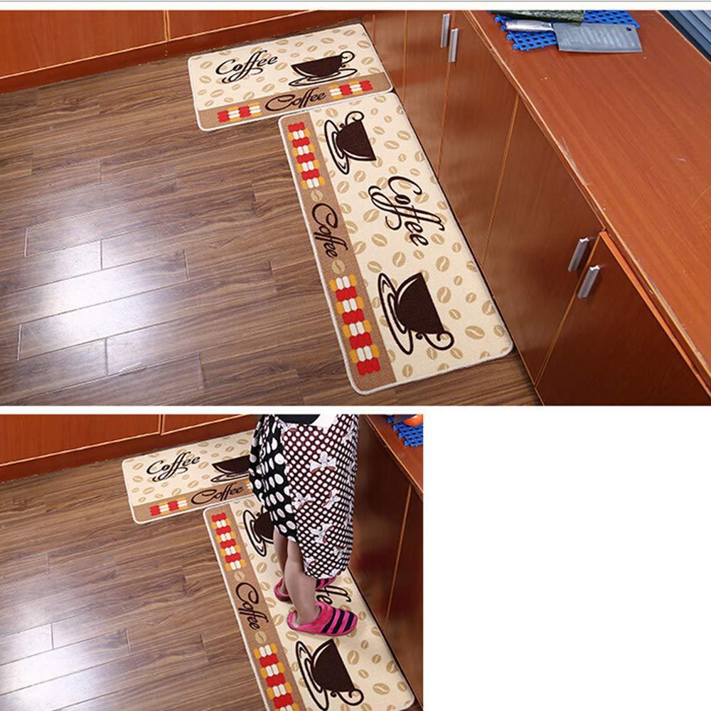 キッチンラグマットノンスリップマット/カーペットバスハウスエントランスカーペットフロアコリドーキッチンラグノンスリップマット1個,50×180Cm 50×180cm  B07HB2N1LH